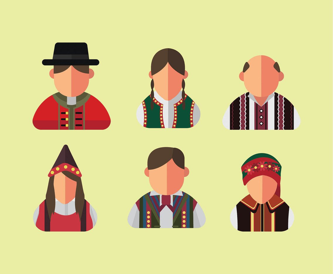 Ukrainian Folklore People Vector