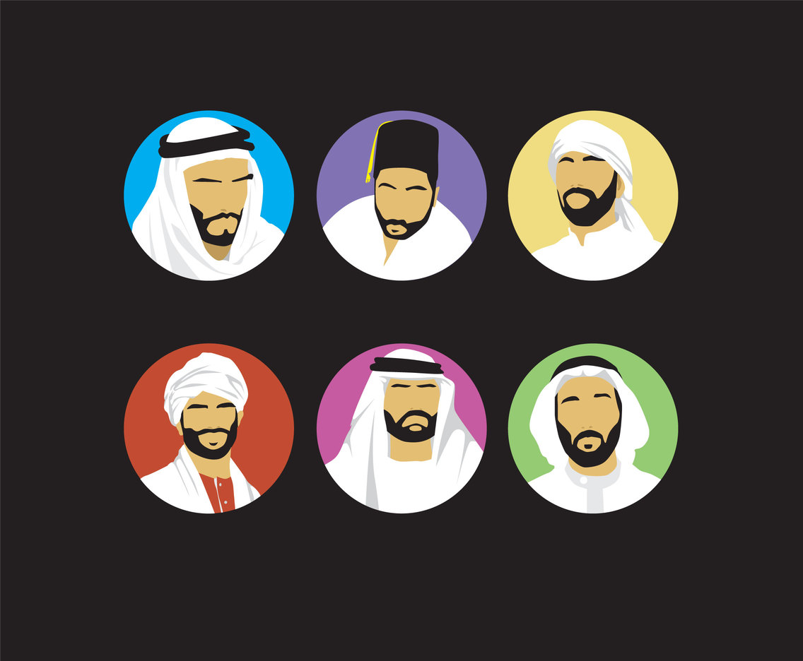 Middle East Men Vector