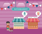 Supermarket Vector Illustration