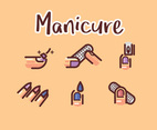 Manicure Vector Cream-Colored Background