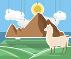 Peru Llama Illustration Vector