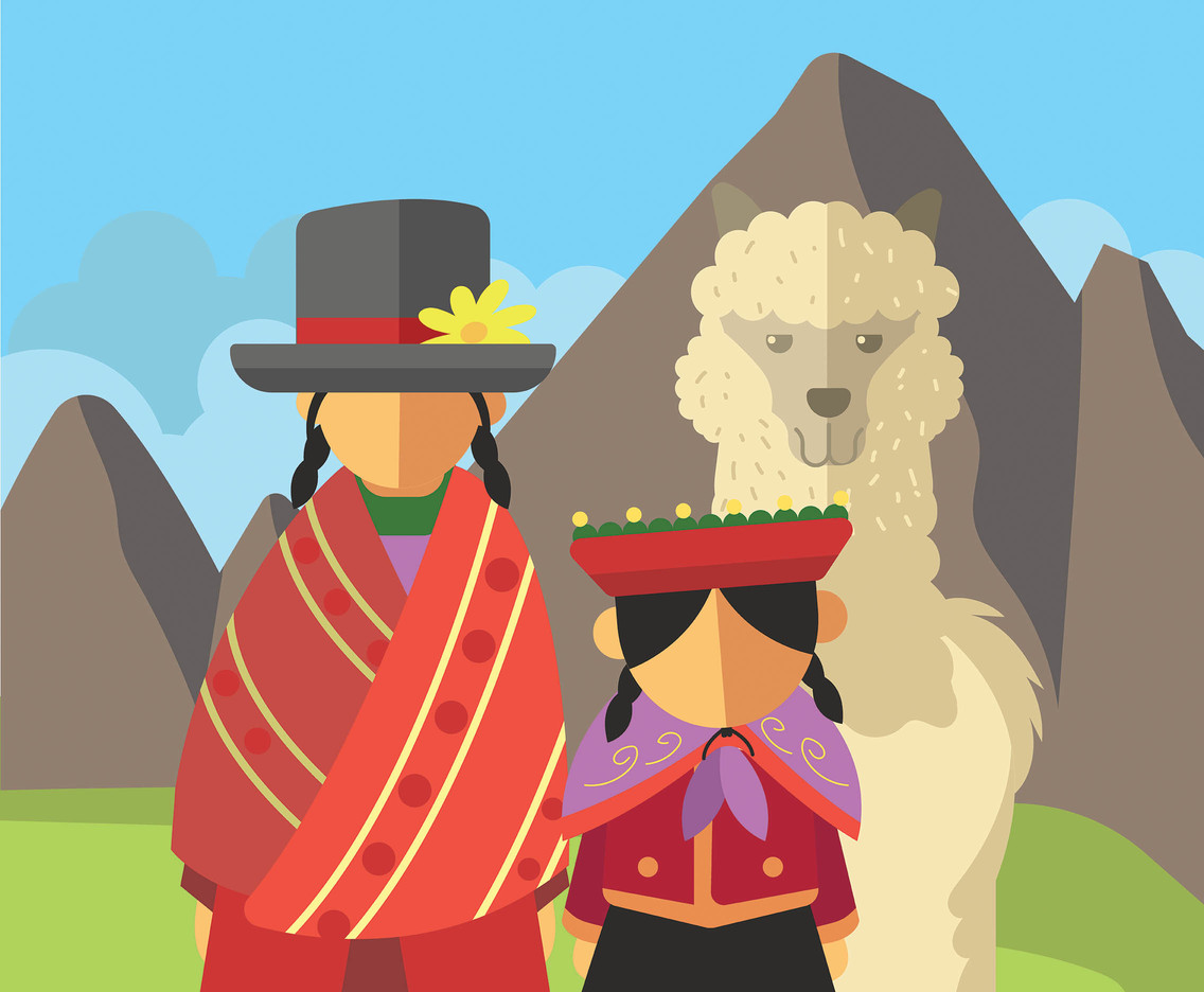 Peru People Illustration Vector