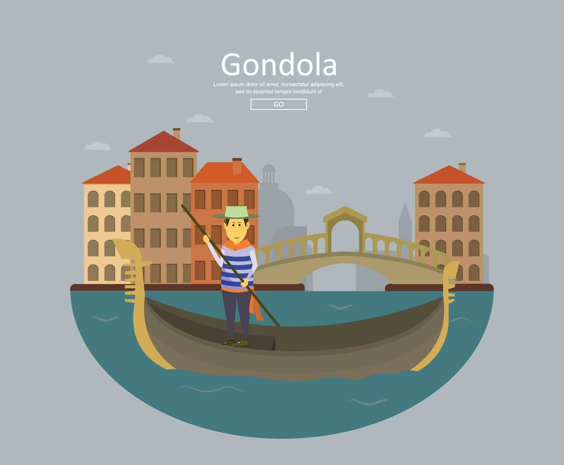 Free Gondola Illustration