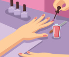 Manicure Illustration Vector