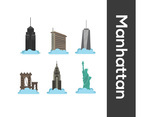 Manhattan Vector White Background