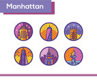 Manhattan Icon Vector