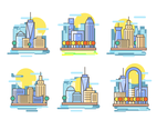 Manhattan City Illustration Vector