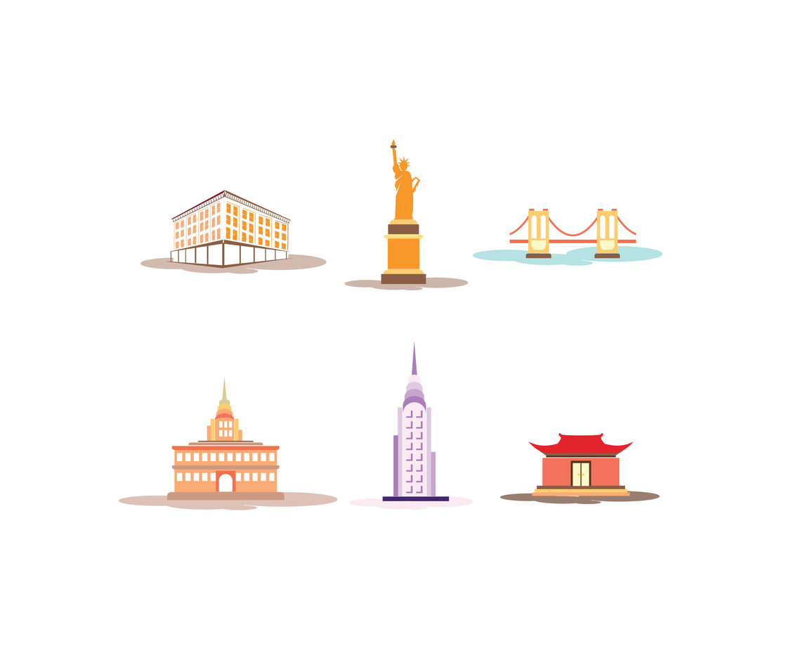Manhattan Landmarks Vector