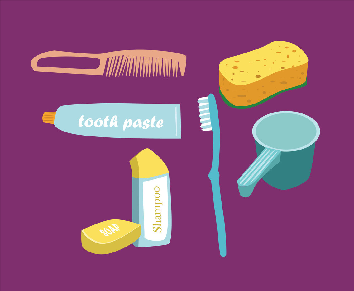 Bathing Accessories Vector