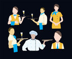 Restaurant Staffs Vector