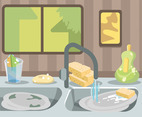 Cleaning Sink Vector