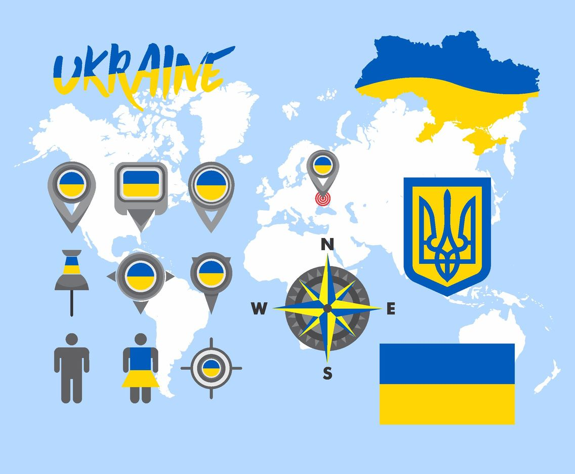 Ukraine Map Vector Pack