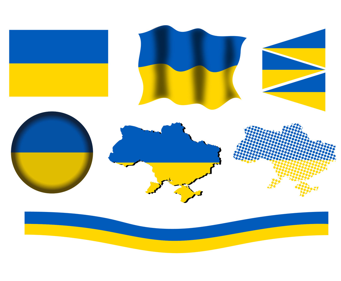 Ukraine Icon Vector Set