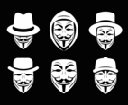 Anonymous Mask With Hat Vector
