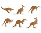 Flat Brown Kangaroo Vector