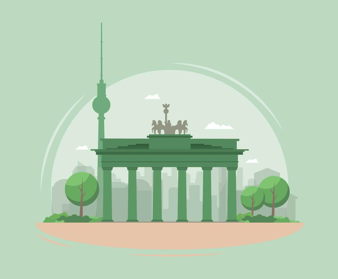 Free Berlin Illustration