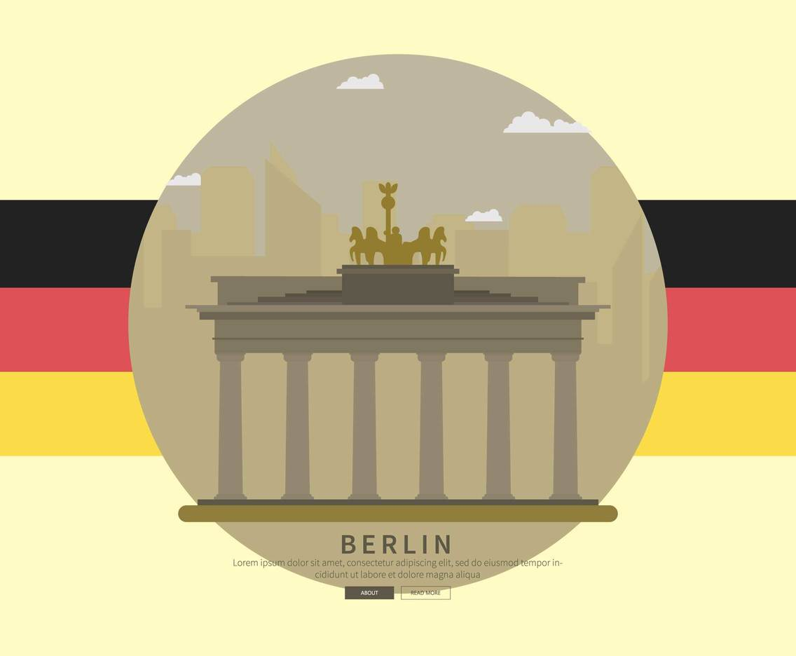 Free Berlin With Germany Flag Illustration