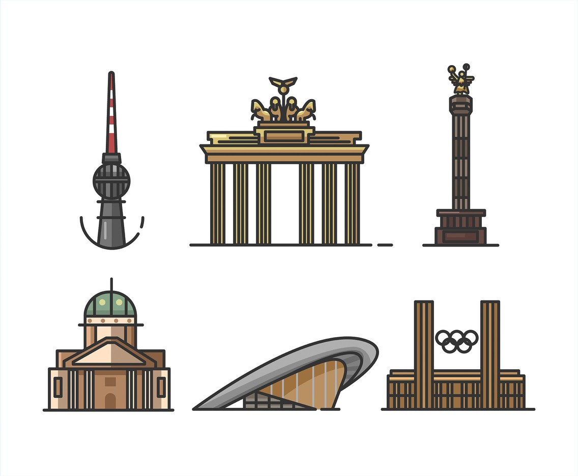 Berlin Vector White Background