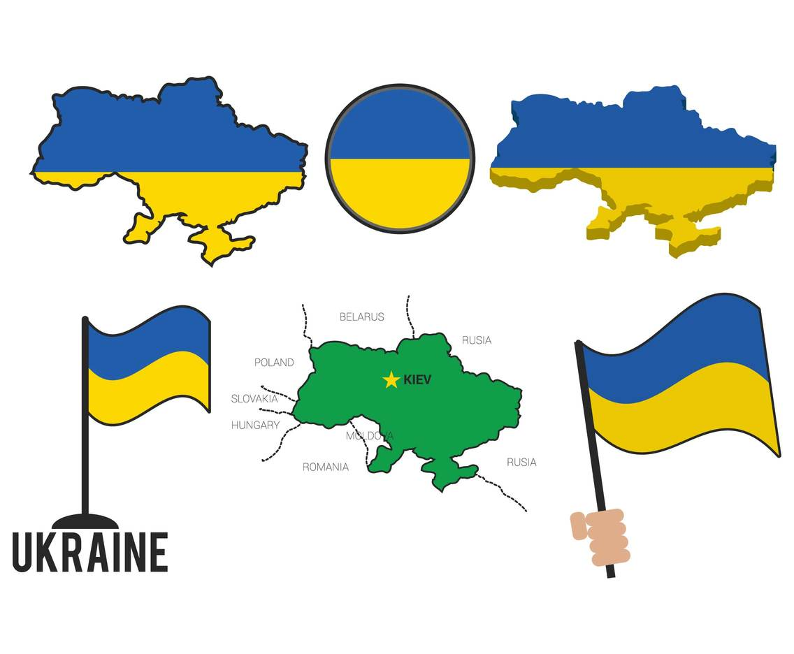 Ukraine vector set