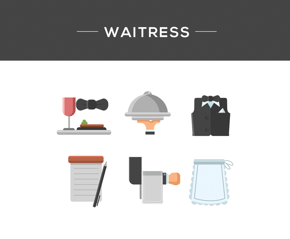 Waitress Icon Vector