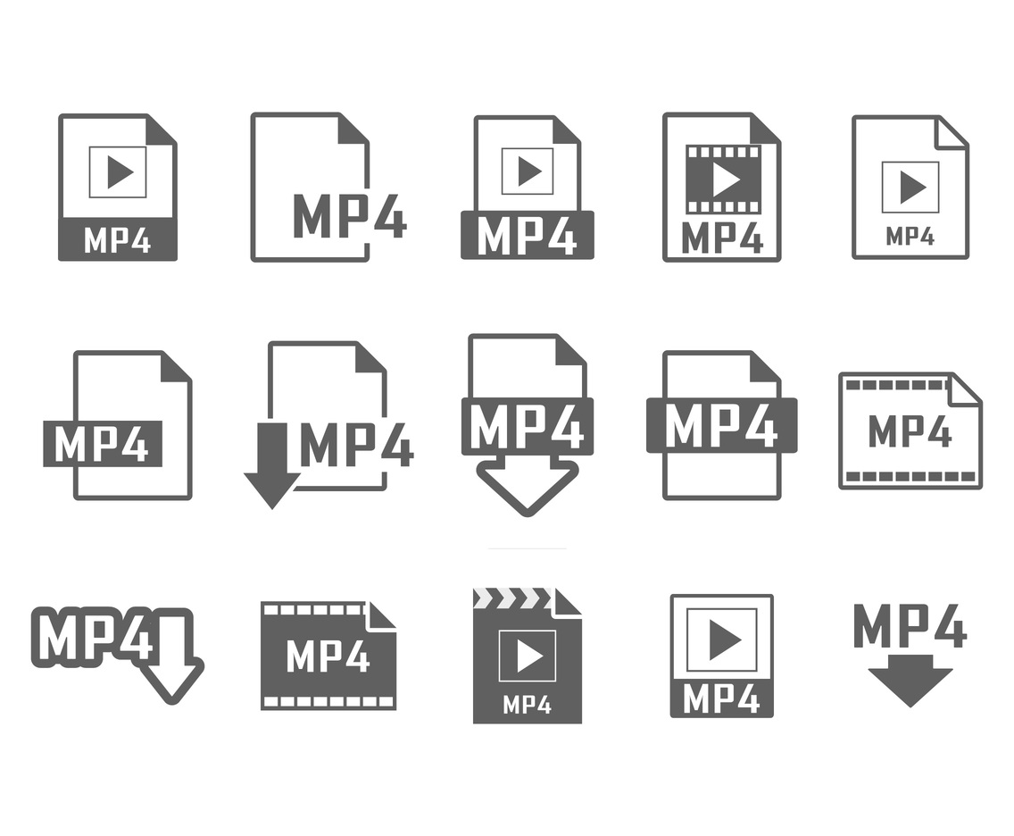 MP4 Icon Vectors