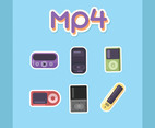 Mp4 Player Vector Blue Background