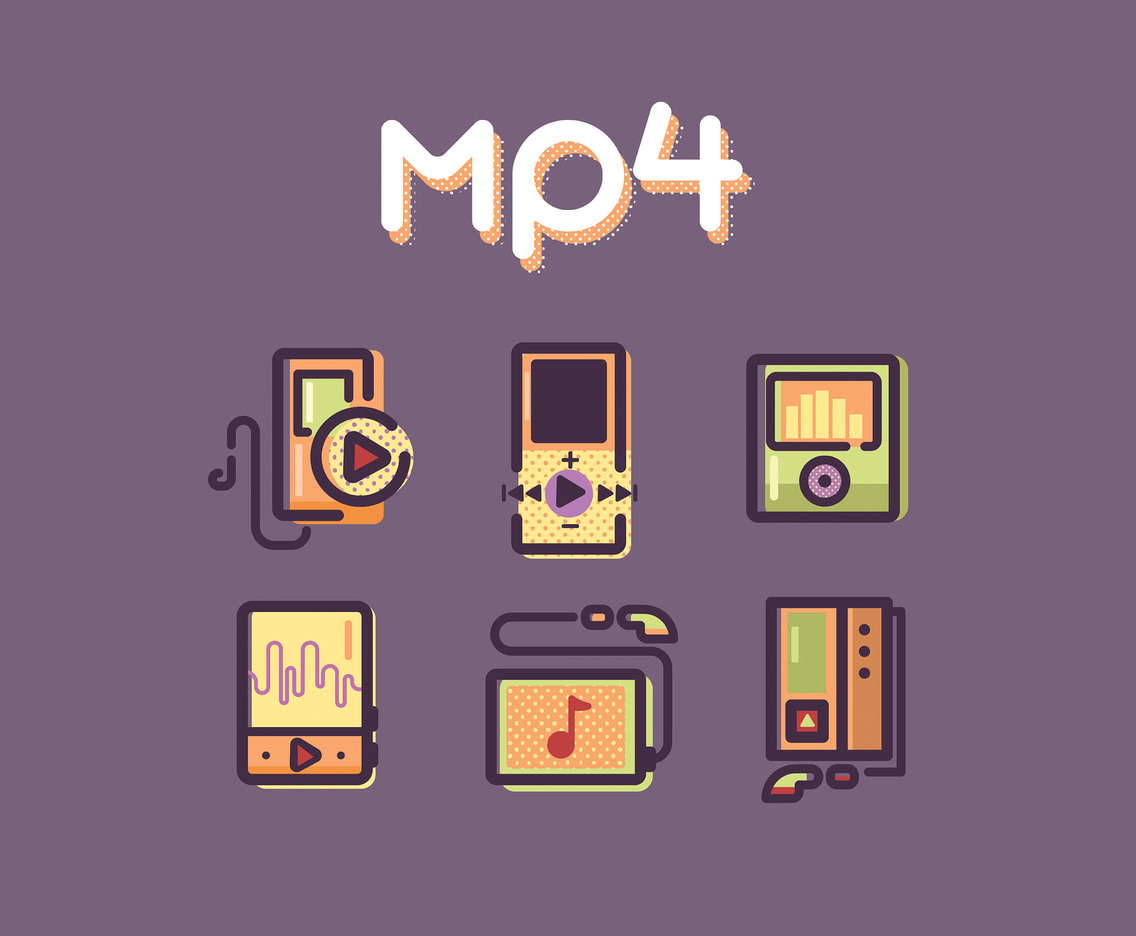 Mp4 Player Vector