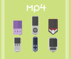 Mp4 Player Vector Green Background