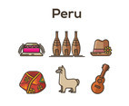 Peru Vector White Background
