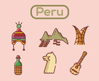 Peru Vector Pink Background