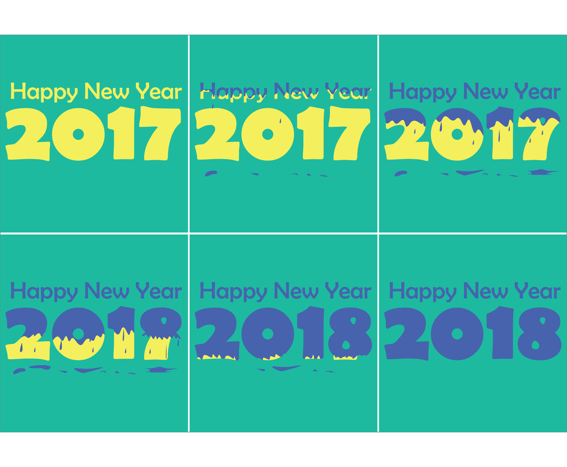 Happy 2018 Paint The New Year Vector Series