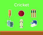 Cricket Vector Green Background