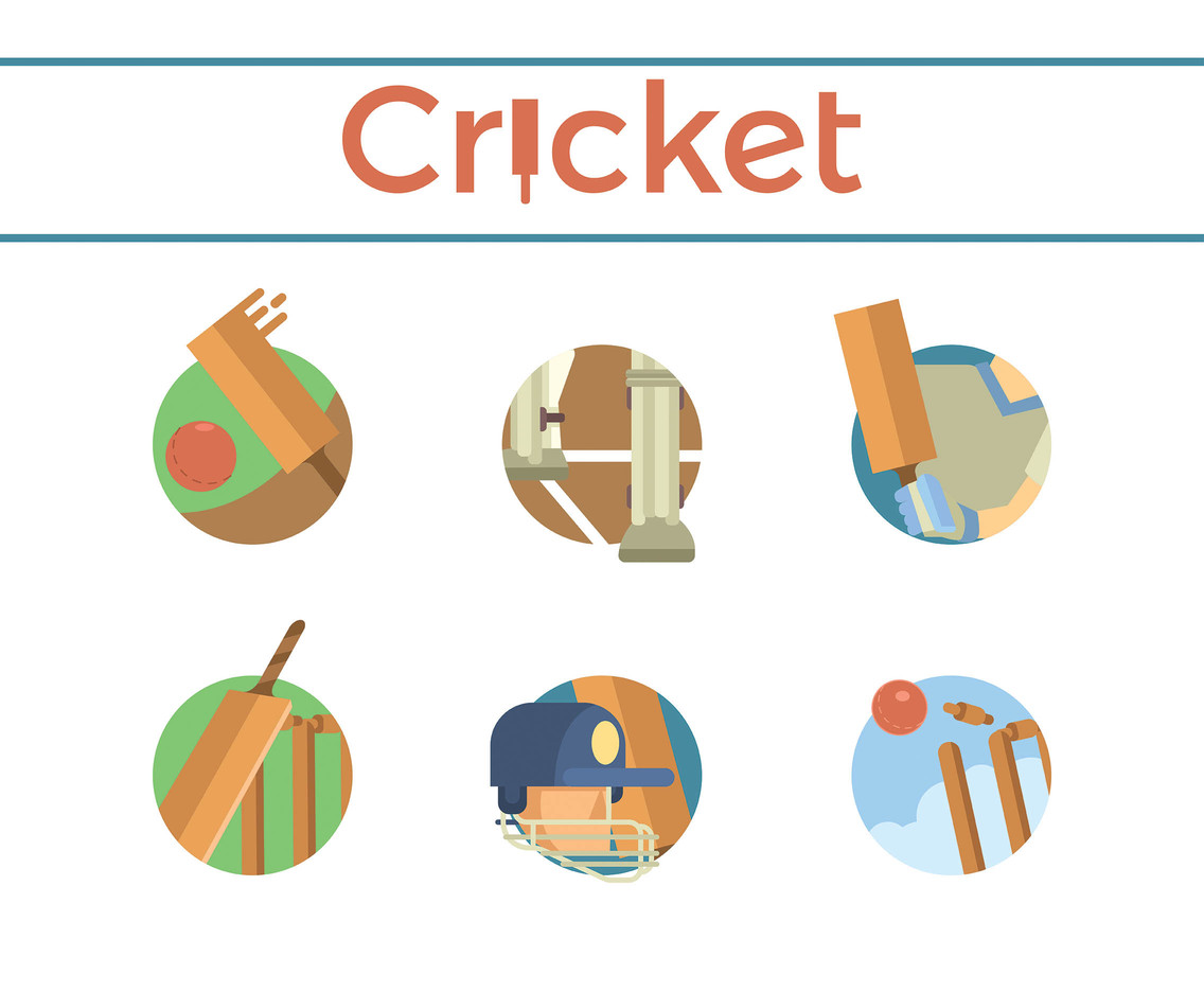 Cricket Vector White Background