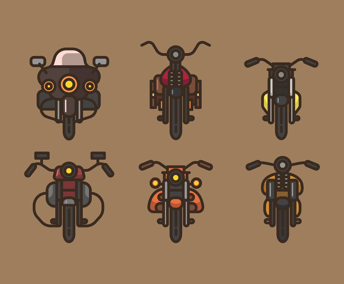 Harley Vector Brown Background