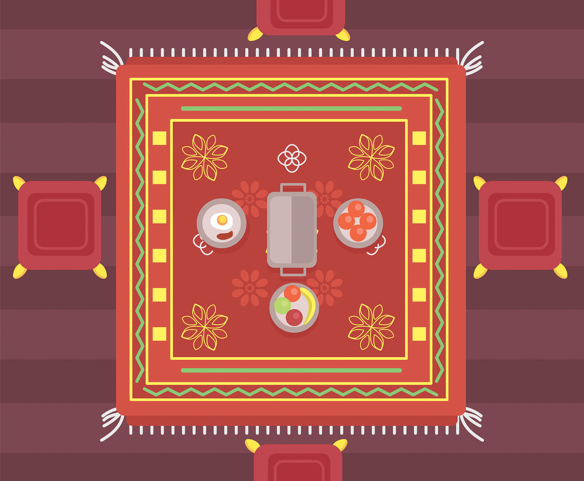 Dining Room Carpet Vector
