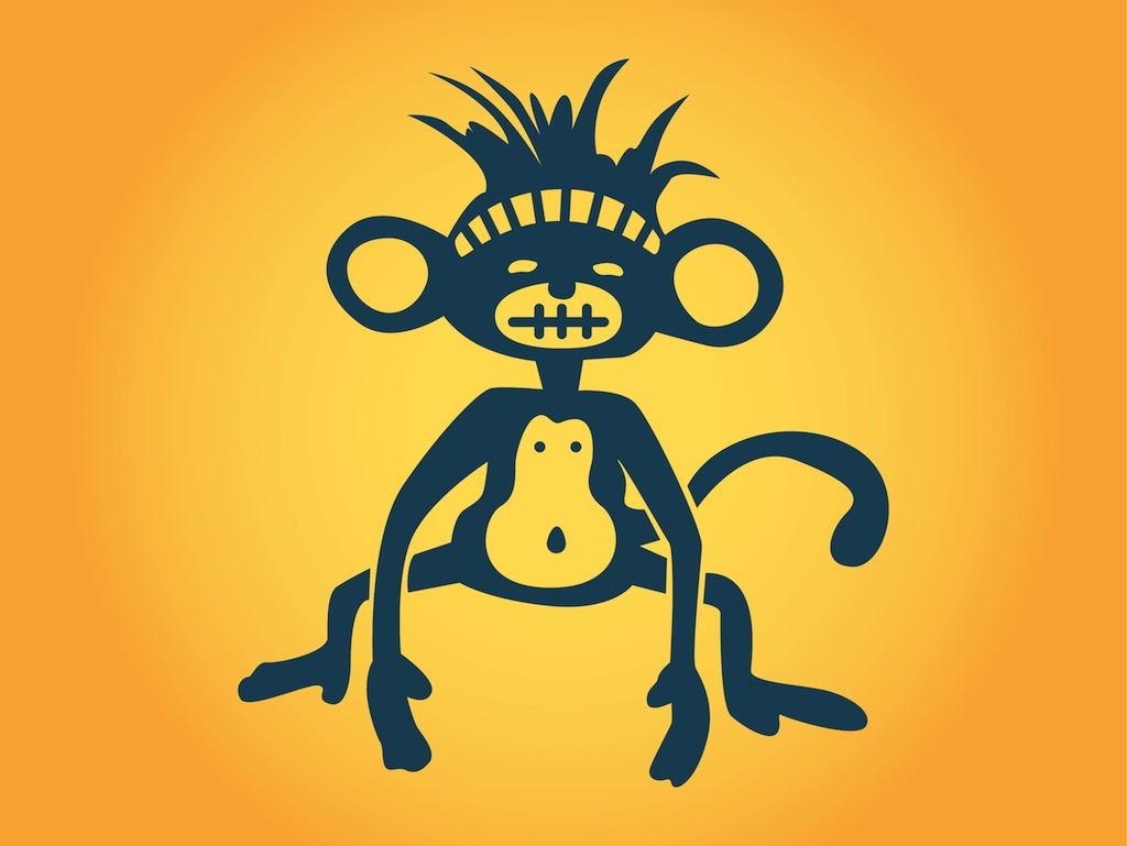 94b27978f Stylized Monkey Vector Art & Graphics | freevector.com