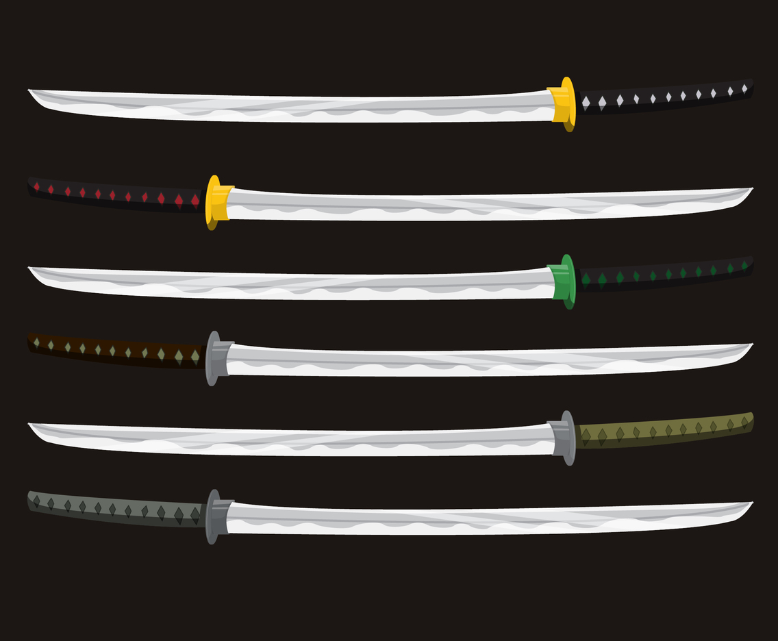 Katana With Different Tsuka Vectors