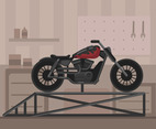 Harley Motorcycle Vector