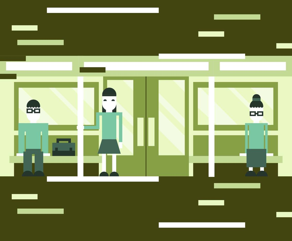 Metro Flat Illustration Vector