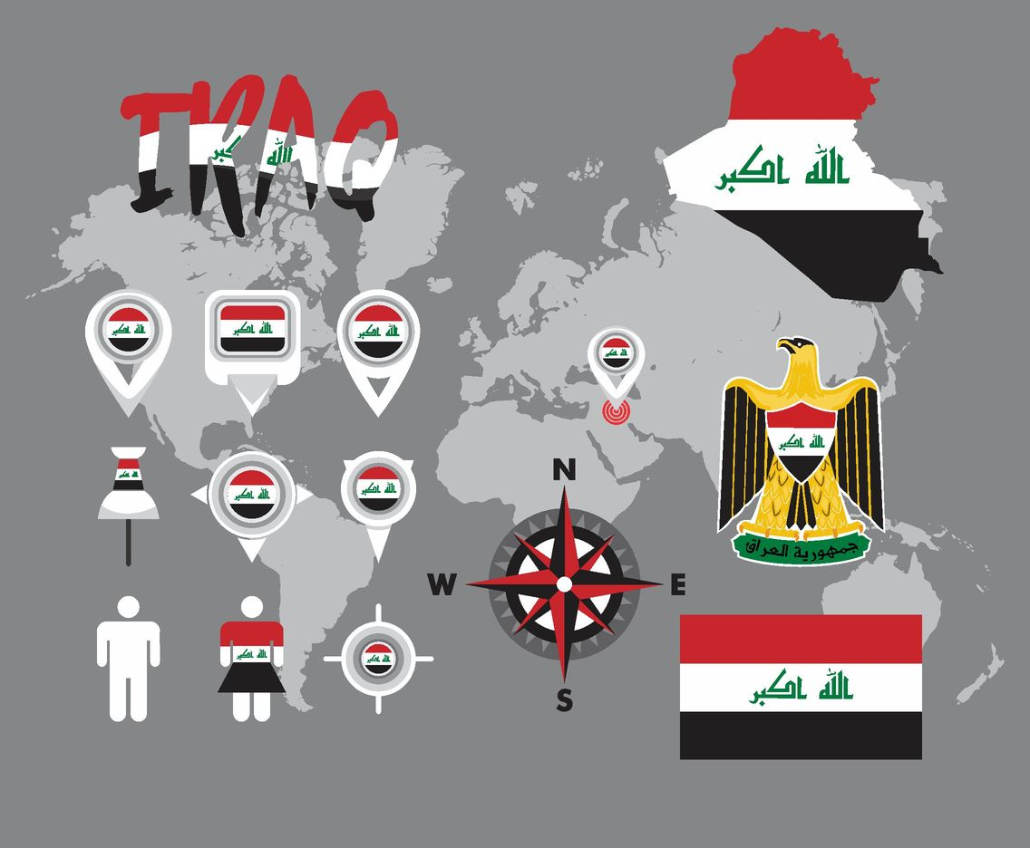 Iraq Map Vector Pack
