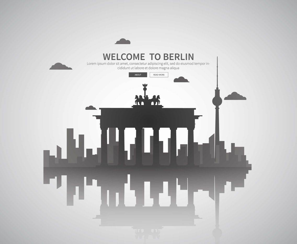 Free Berlin City Illustration