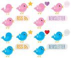 Social Media Cartoon Birds