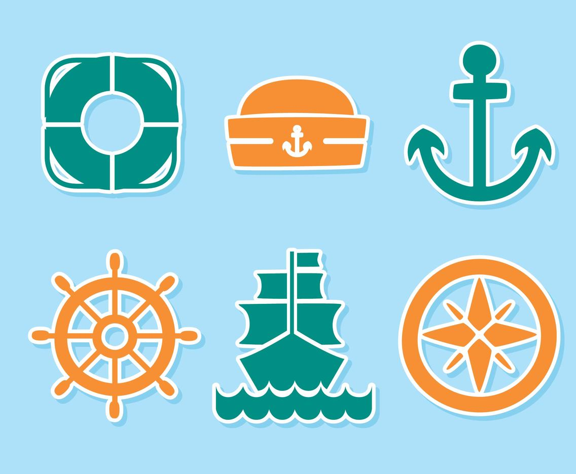 Sailor Element Icons Vector