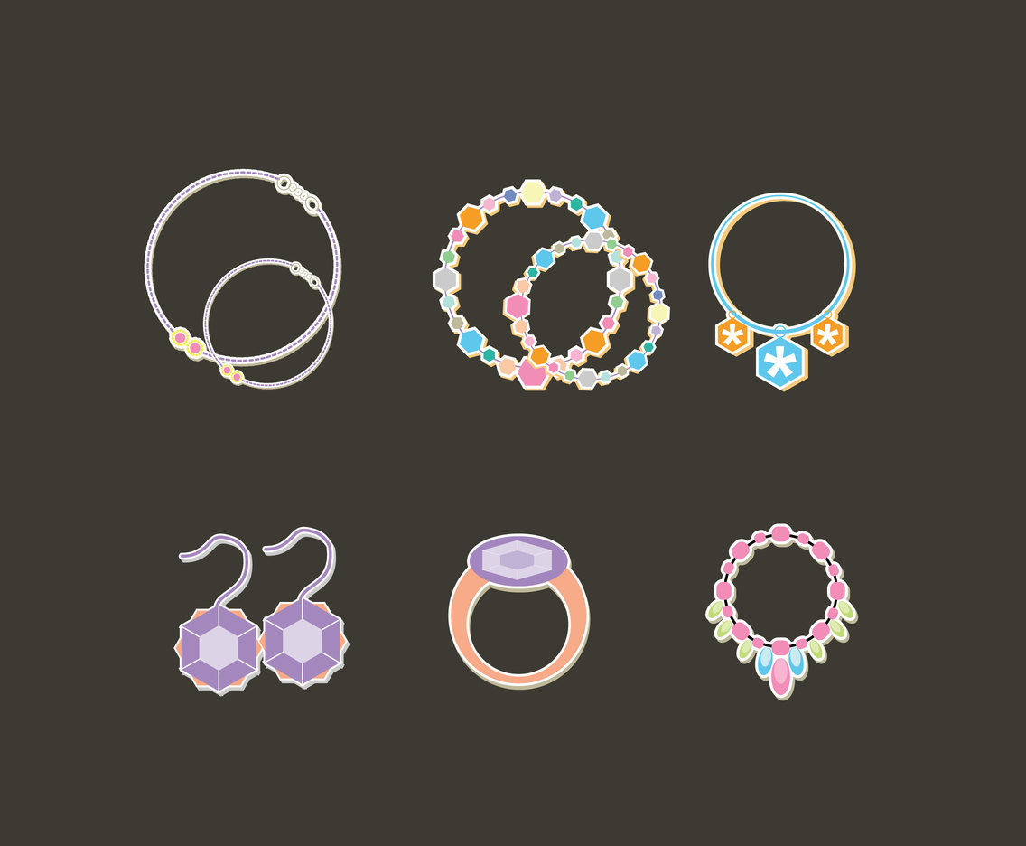 Girlish Accessories Vector