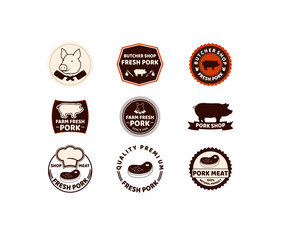 Meat and Butcher Label Vectors