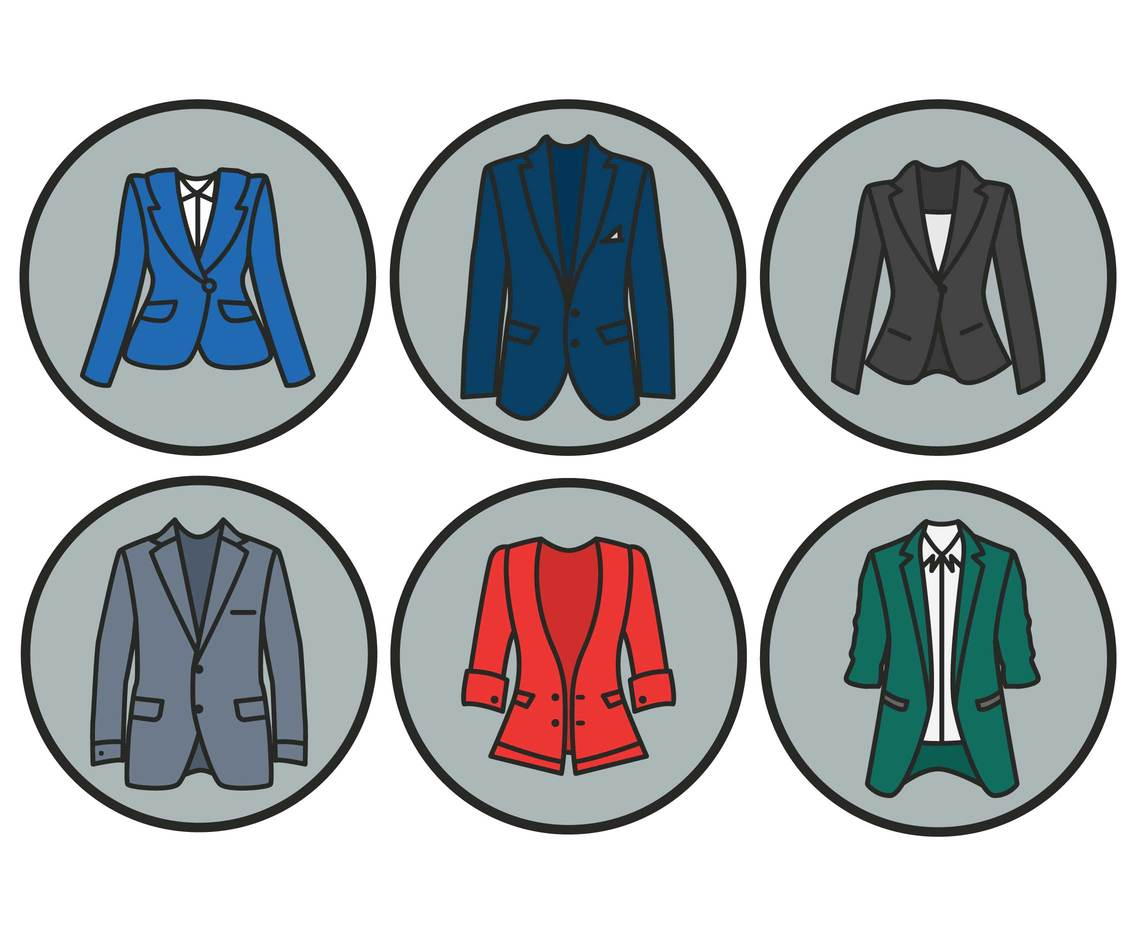 Blazer vector set