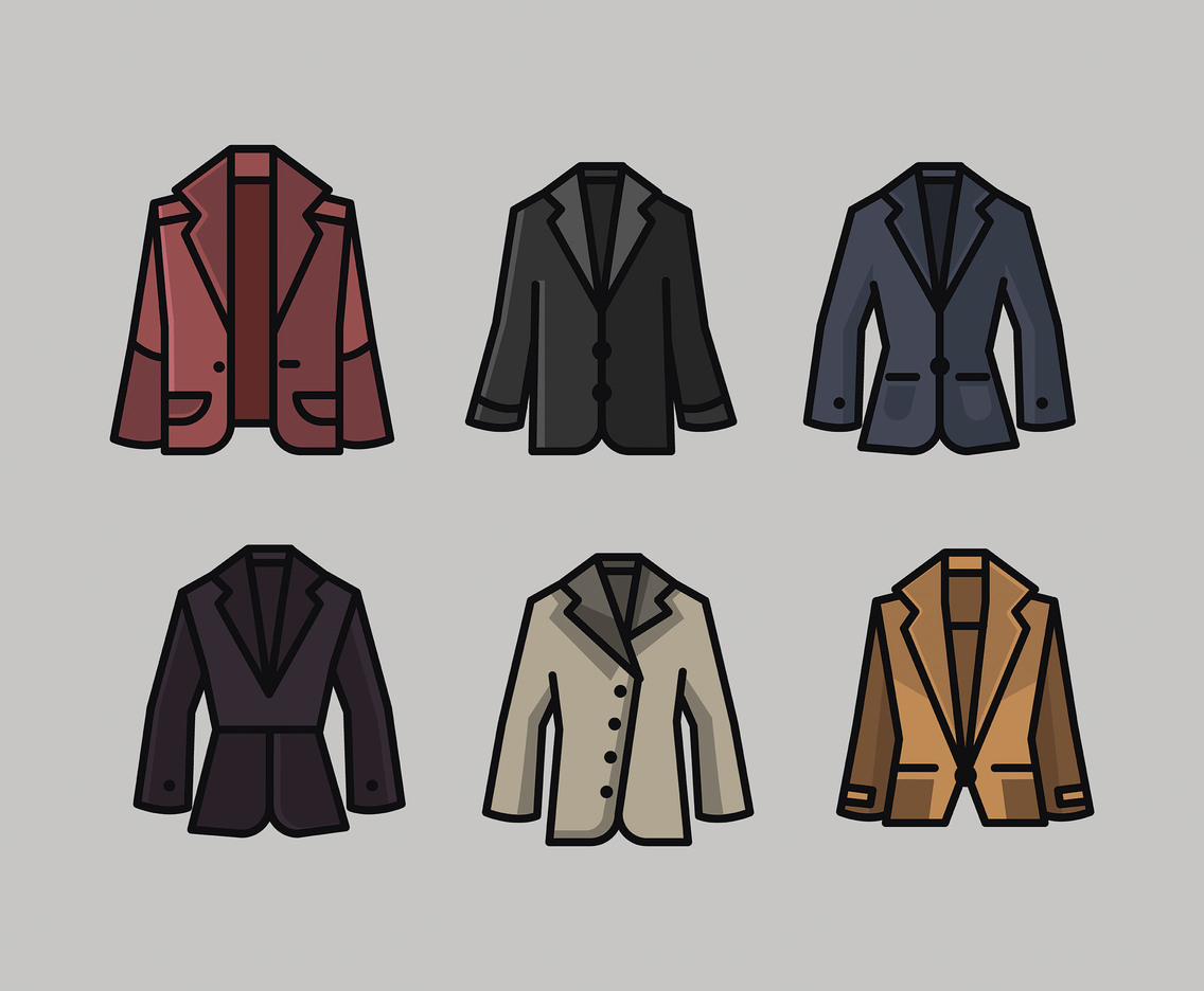 Blazer Vector in Thick Line