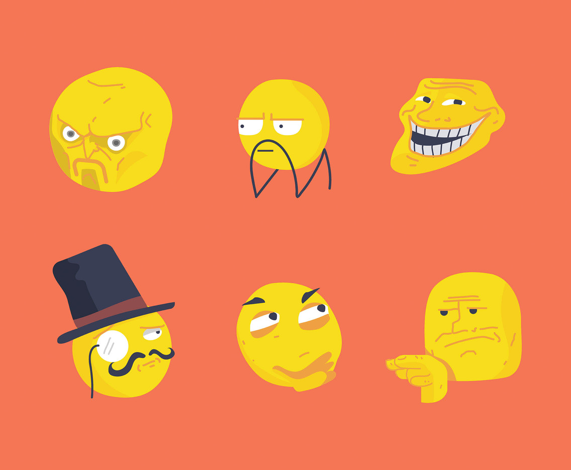 Meme Vector Orange Background
