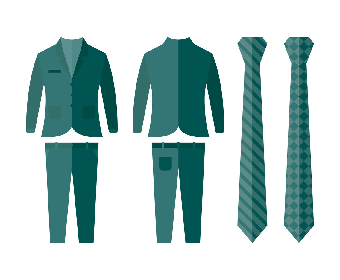 Teal Suit Vectors