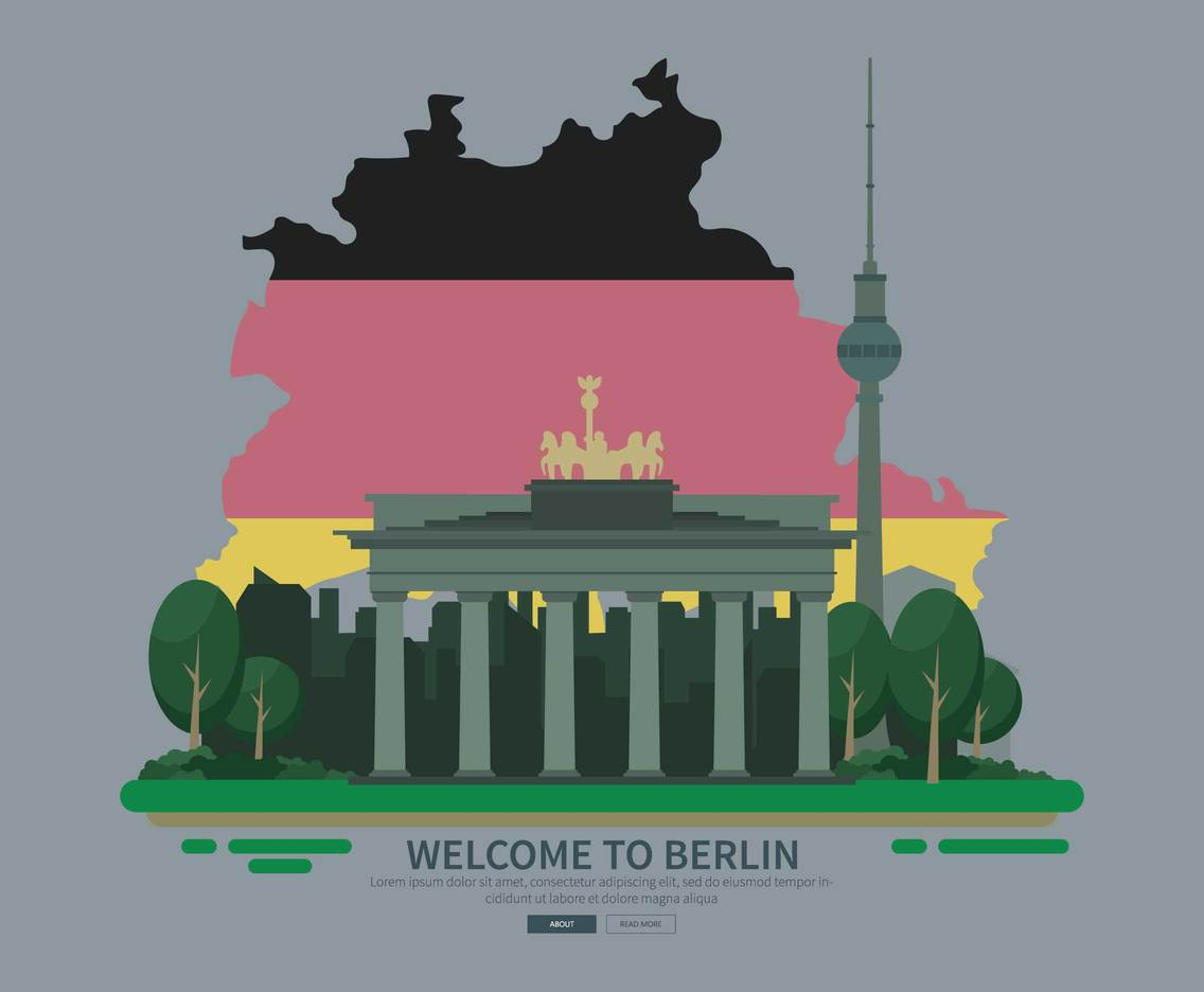 Free Berlin Landmark Illustration